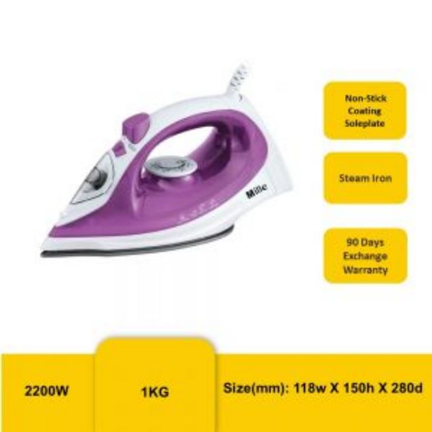 MILLE MEI-608 STEAM IRON offers at RM 59