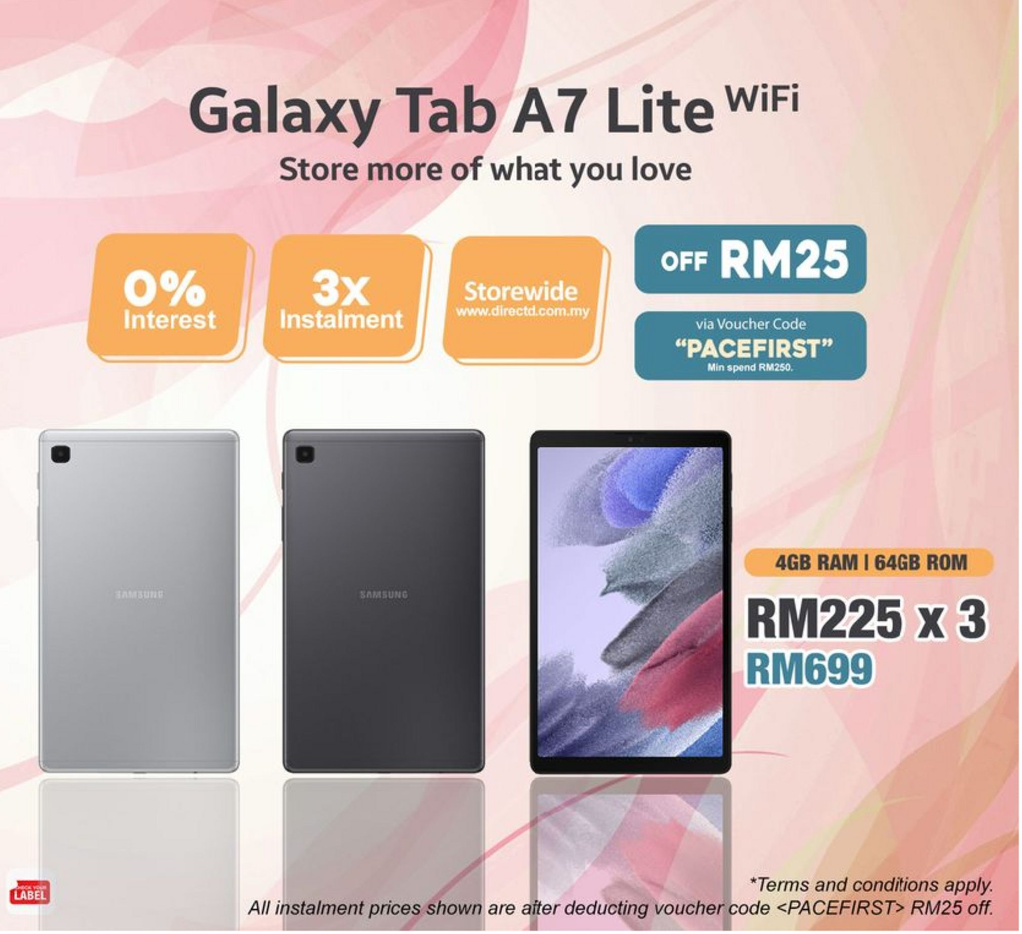 Tablet offers at RM 699