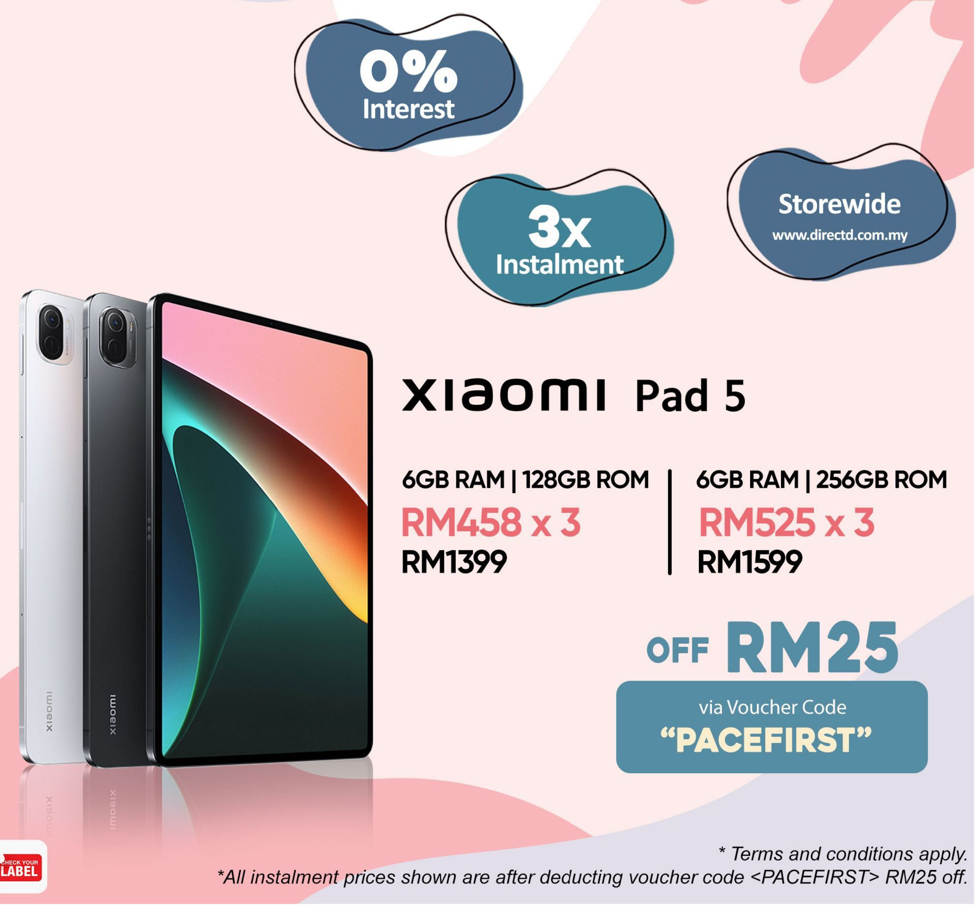 Tablet Xiaomi offers at RM 1399
