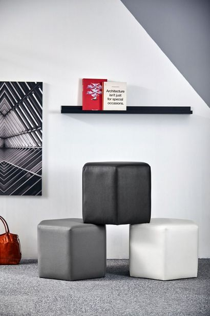Day Hexagon Footstool - Charcoal offers at RM 263