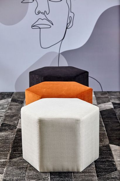 Day Hexagon Footstool - Milk offers at RM 263
