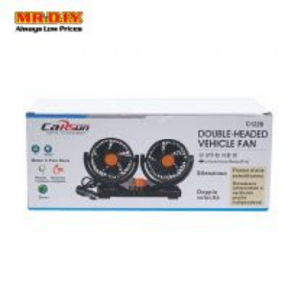 CARSUN Double Headed Vehicle Fan 12V offers at RM 43