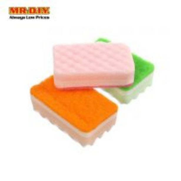 Colorful Dishes Washing Sponge (3 pcs) offers at RM 2.2