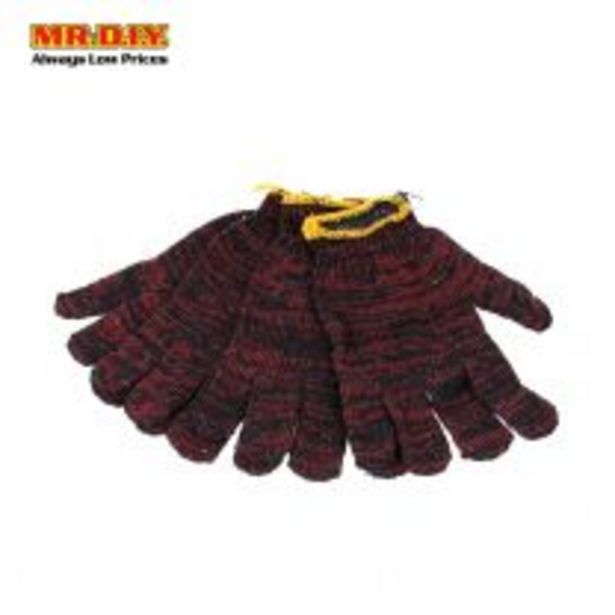 MR.DIY Red Cotton Gloves 800G (2 Pairs) offers at RM 1.98