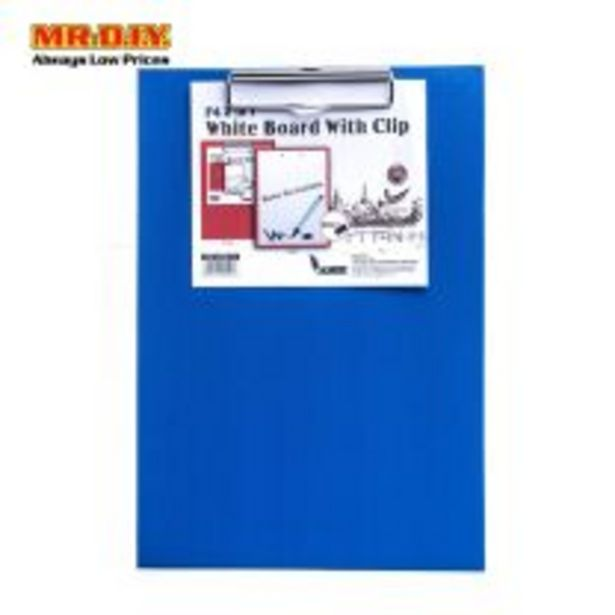 ACADEMY 2 in 1 A4 White Board with Clip offers at RM 2.84