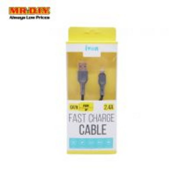 IVON Anti-Knotted iOS USB Fast Charging Data Cable 2.4A (1000mm) offers at RM 5.9