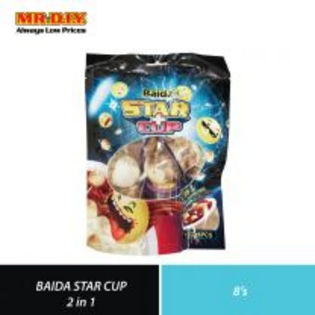 BAIDA Star Cup 2 In 1 Chocolate with Biscuit (8 x 12g) offers at RM 1.4