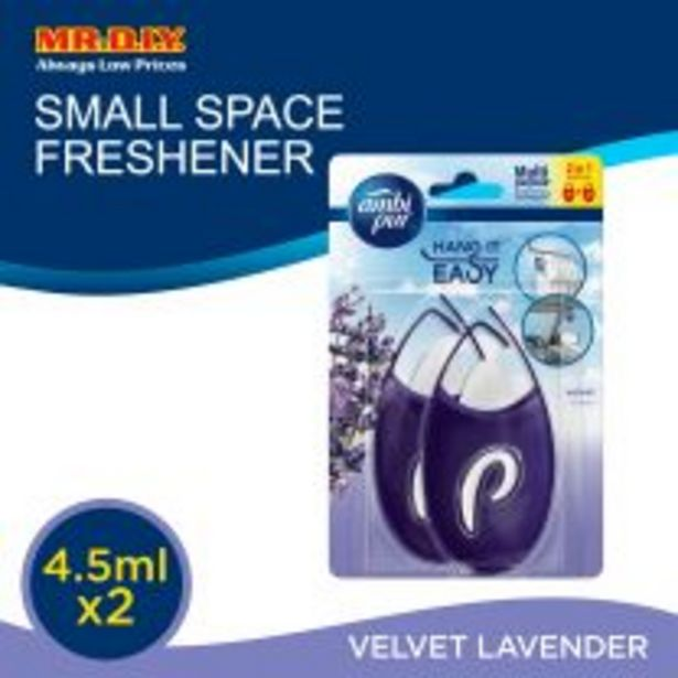 Ambi Pur Mini Fresh Velvet Lavender 2 in 1 Small Space Freshener 2 x 4.5ml Bundle Pack offers at RM 10.44