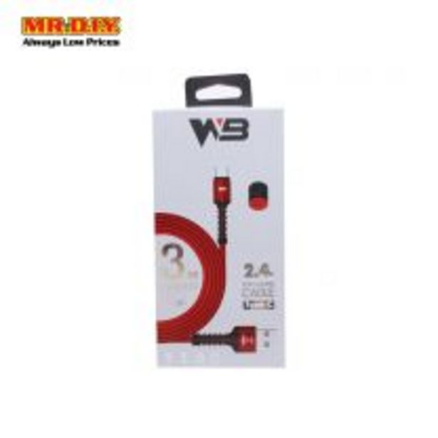 24A Fast Charge Cable Wb-B631 Typec 3M offers at RM 13.9