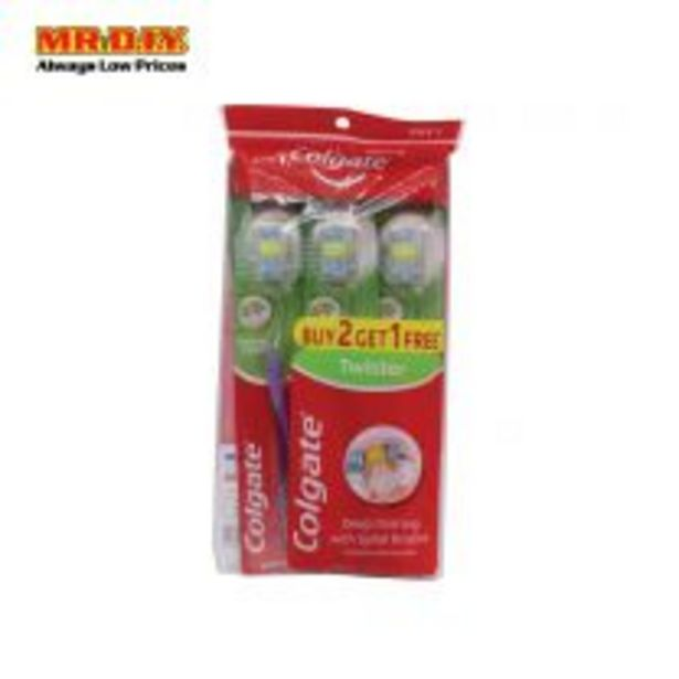 COLGATE Toothbrush Twister Soft Buy 2 Free 1(Polybag) offers at RM 7.9
