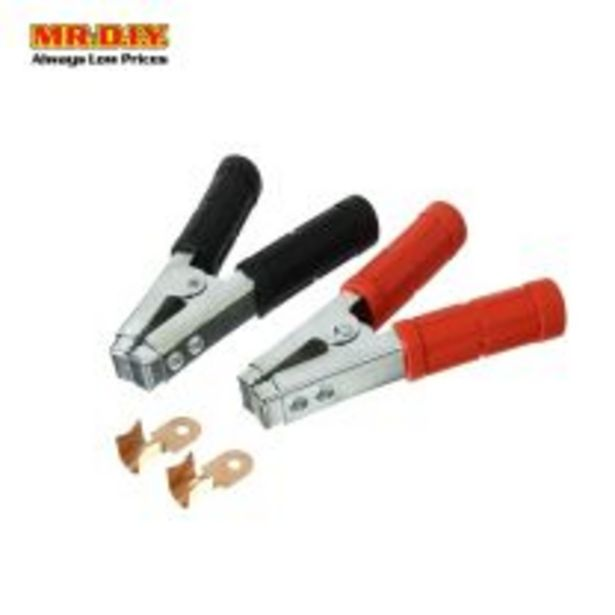 Car Battery Clamps with 2 cable splicing wire connectors (2pcs) offers at RM 9.34