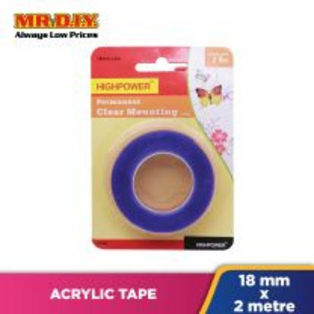 Acrylic D/S Tape 18Mm*2M Hp1155 offers at RM 2.64