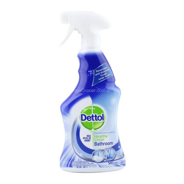 Dettol Healthy Clean Bathroom Surface Spray Disinfectant 500ml offers at RM 14.3