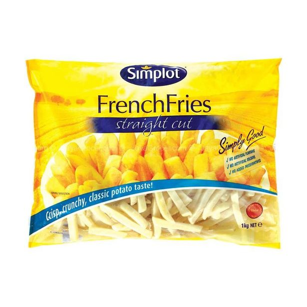 Simplot Straight Cut French Fries 1kg offers at RM 12.25