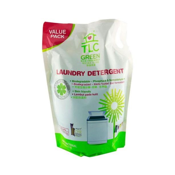TLC Green Laundry Detergent Liquid Refill Pack 1.8L offers at RM 16.1