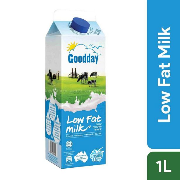 Goodday Low Fat Milk 1L offers at RM 7.2