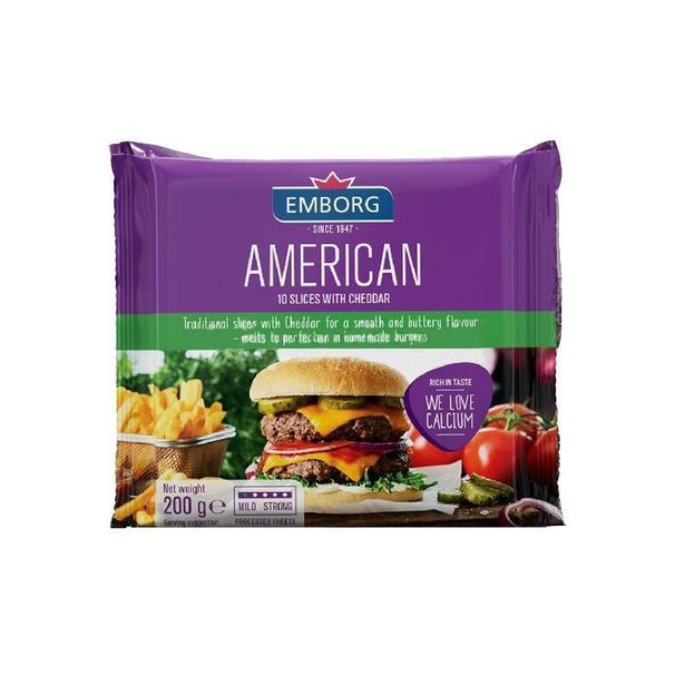 Emborg American Cheddar Slices Cheese 200g offers at RM 9.91