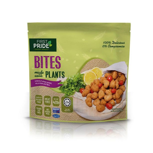 FIRST PRIDE BITES MADE W PLANTS 420G offers at RM 19.9