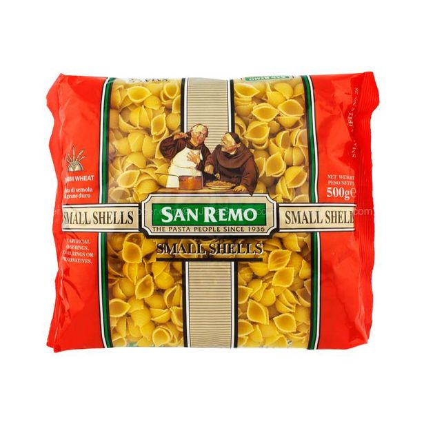 SAN REMO NO 28 SMALL SHELLS 500G *1 offers at RM 4.99