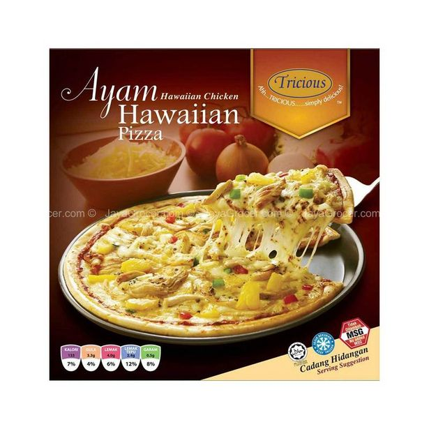 """Tricious 9.5"""" Hawaiian Chicken Pizza 350g offers at RM 12"""
