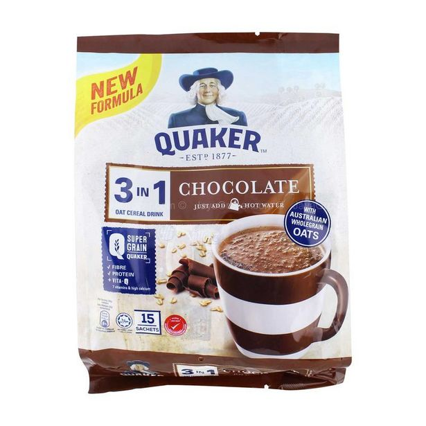 QUAKER QVITAL CHOCOLATE 15SX28G *1 offers at RM 9.9