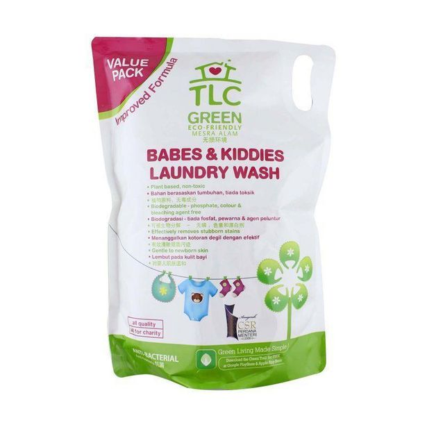 TLC Green Babes & Kiddies Laundry Wash 1.8L offers at RM 20.5