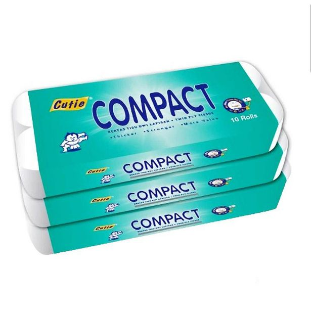 Cutie Compact Bathroom Tissue 30rolls offers at RM 42.9