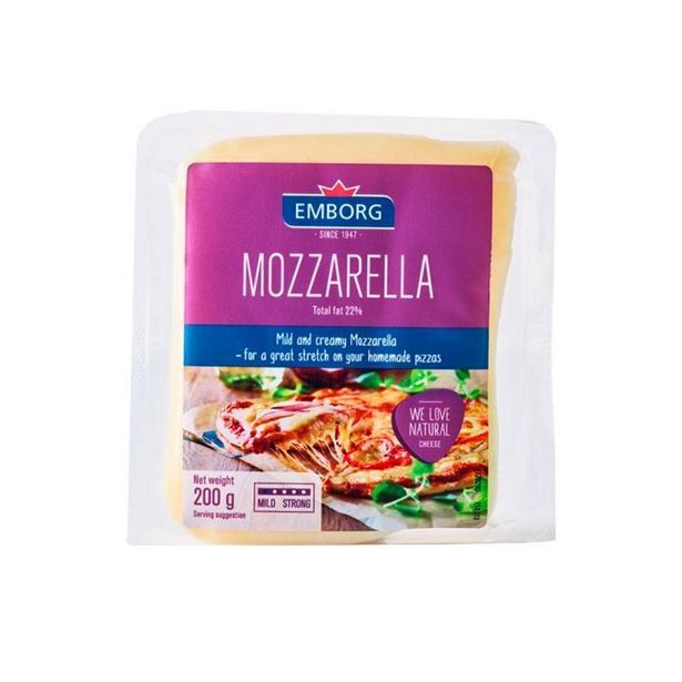 Emborg Mozarella Block Cheese 200g offers at RM 16.99