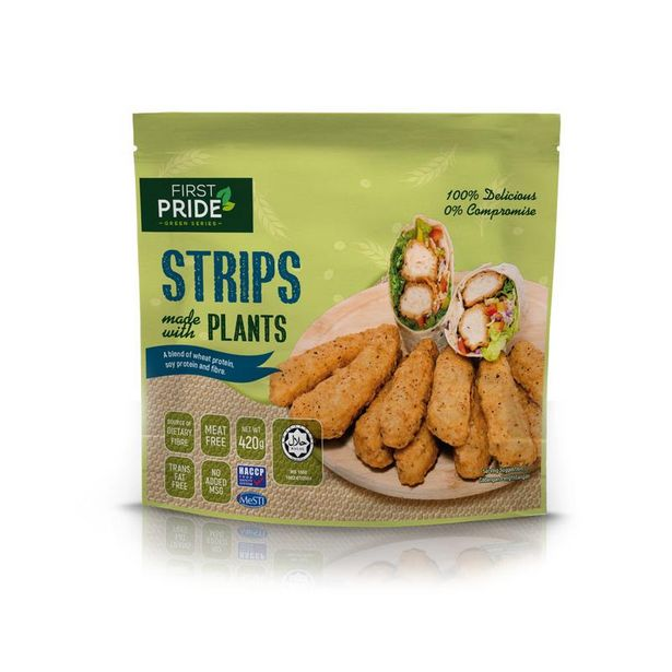 FIRST PRIDE STRIPS MADE W PLANTS 420G offers at RM 19.9