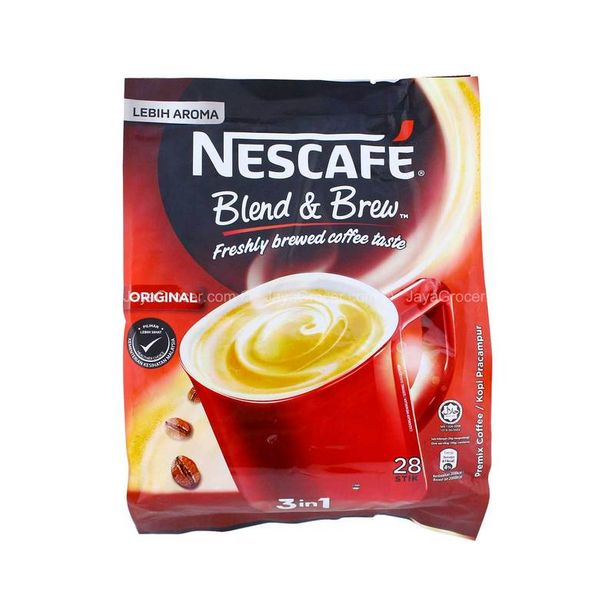 Nescafe Blend & Brew Original 3 in 1 Instant Coffee 20g x 28 offers at RM 12.99