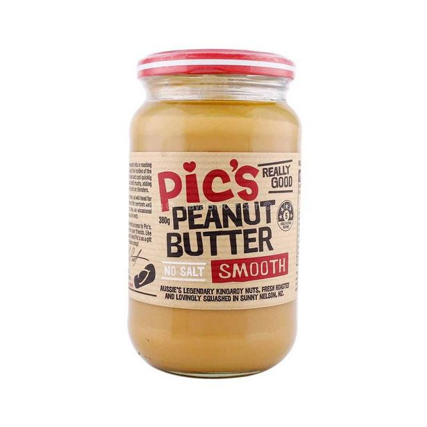 Pic's Smooth Peanut Butter No Salt 380g offers at RM 19.9