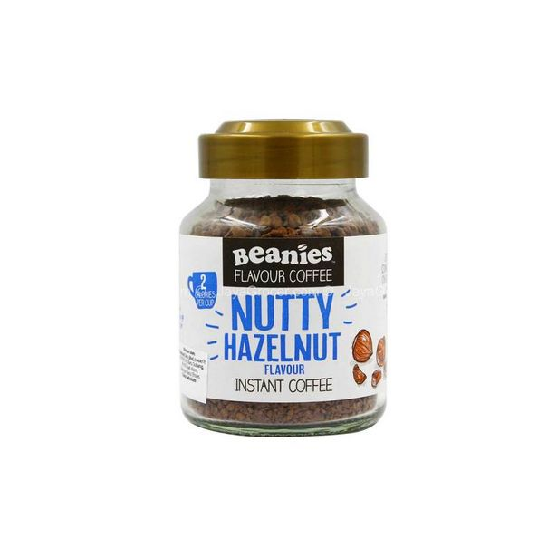 Beanies Nutty Hazelnut Flavour Instant Coffee 50g offers at RM 15.99