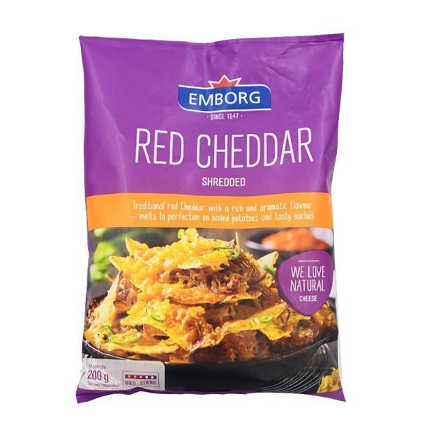 Emborg Cheddar Shredded Cheese 200g offers at RM 15.9
